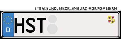 Kfz-Kennzeichen in Stralsund