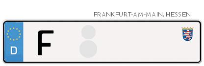 Kfz-Kennzeichen in Frankfurt