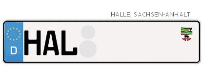 Kfz-Kennzeichen in Halle