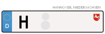 Kfz-Kennzeichen in Hannover
